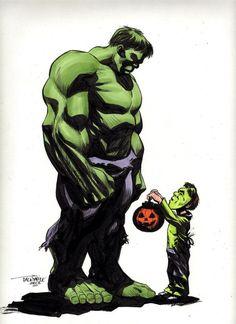 #Hulk #Fan #Art. (Incredible Hulk Halloween) By: SCOTT DALRYMPLE. ÅWESOMENESS!!!™ ÅÅÅ+