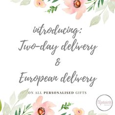Standard Delivery usually 3.50 but still FREE over 35  Read up on our new and amended delivery options for all our personalised products in stock:  buff.ly/2lRuzM6 /26-2/  UK 2-Day Delivery (next-day dispatch)  6.95  European Delivery (5  7 working days)  9.50  Please note the following:  European Delivery is currently available for the following countries only: R.O.Ireland France Germany Belgium Netherlands Luxembourg. For other countries please email us for a delivery quote…