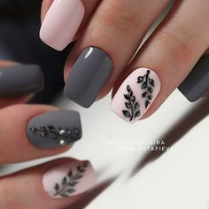 Image showing for Autumn Nail Trends 2018 - Nail Art Designs Pink Nails, My Nails, Fall Nails, Grey Gel Nails, Nail Trends 2018, Nagellack Trends, Nails 2018, Instagram Nails, Instagram Ideas