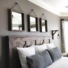 80 Admirable Farmhouse Rustic Master Bedroom Design Ideas – Home Decor Ideas Farmhouse Master Bedroom, Master Bedroom Design, Home Decor Bedroom, Diy Bedroom, Bedroom Rustic, Modern Bedroom, Bedroom Designs, Master Bedrooms, Master Suite