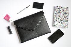 All Black Envelope Clutch