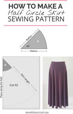 How to Make a Skirt   Learn how to make this simple skirt sewing pattern. Click through to Sew in Love for the instructions and more skirt photos!
