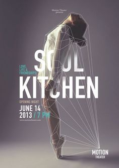 Cool Graphic Design, Soul Kitchen. #graphicdesign #poster [http://www.pinterest.com/alfredchong/]