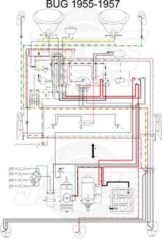 Thesamba Type 1 Wiring Diagrams 1956 Diagram Ford Ignition With Motorcycle Wiring, Vw Dune Buggy, Job Pictures, Schematic Drawing, Vw Parts, Electrical Wiring Diagram, Circuit Diagram, Mickey Mouse And Friends, Vw Beetles