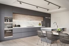 Cocinas modernas blancas y grises - 20+ diseños inspiradores