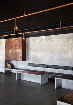Restaurang & Bar Nazdrowje by Richard Lindvall exposed copper pipes