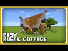 Minecraft: How To Build A Small Rustic Cottage Tutorial