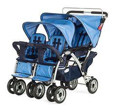 Child Craft Sport Multi-Child Stroller, Quad, Regatta Blue