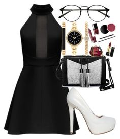 """""""Outfit No.31"""" by amazin-maze on Polyvore featuring Qupid, Carianne Moore, Style & Co., Winter, blackandwhite, Glamour and partystyle"""