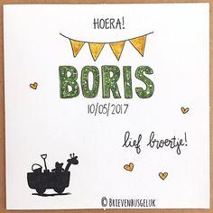 62 vind-ik-leuks, 6 reacties - Brievenbusgeluk (@brievenbusgeluk) op Instagram: '• Hoera! BORIS • ©  . . #inopdracht #ondemand #custommade #brievenbusgeluk #boris #hoera #hooray…'