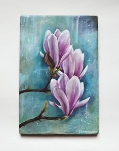 magnolia painting, acrylic painting, flower painting, magnolia art Some Great Wedding Flower Ideas F Acrylic Painting Flowers, Heart Painting, Acrylic Art, Acrylic Painting Canvas, Watercolor Paintings, Original Paintings, Canvas Art, Canvas Size, Gouache Painting