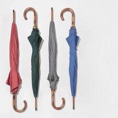 Umbrella with Maple Wood Handle- Kaufmann Mercantile