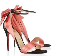 Christian Loubotin coral sandals