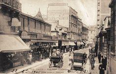 La rue Saint-Dominique vue depuis l'avenue Bosquet vers 1900