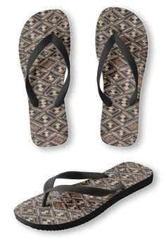 843c19c2d Designer-Style FLIP FLOPS - Kuba Cloth Design - Women s Men s Slip-On  Sandals