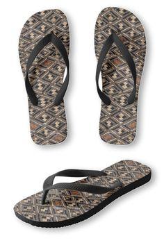 7e50d17c849 Designer-Style FLIP FLOPS - Kuba Cloth Design - Women s Men s Slip-On  Sandals