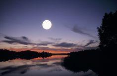 Moonlight in Finnish Lakeland by Visit Finland, via Flickr