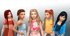 New pack available on my site.  Include 5  Girls hair I created for the Sims 4, you can have these without advertising.  I accept requests a...