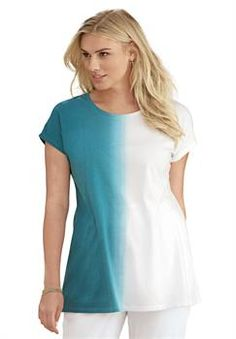 Plus Size Ombre Tee