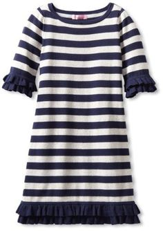 Lilly Pulitzer Girls 7-16 Little Helena Sweater Dress, True Navy, X-Large Lilly Pulitzer,Sweater dress with striped pattern, metallic touches and ruffled detail at hem and elbow length slvs  http://www.amazon.com/dp/B00891RF50/ref=cm_sw_r_pi_dp_fwLJrb24F39640BC