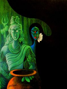 Shiva and Shakti are indistinguishable. They are one. They are the universe. Shiva isn't masculine. Shakti isn't feminine. At the core of their mutual penetration the supreme consciousness opens.
