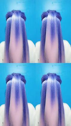 Easy Hairstyles For Long Hair, Cute Hairstyles, Braided Hairstyles, Front Hair Styles, Long Hair Video, Brown Blonde Hair, Great Hair, Hair Videos, Hair Hacks