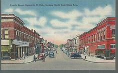 Nice View of Fourth St in Bismarck ND Looking North from Main St | eBay