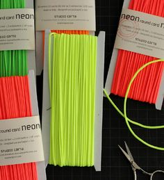 Neon Round Cord: Neon Round Cord is one of our latest addition to the Studio Carta line of products. It can be use for elegant gift wrapping and packaging, to embellish garments and craft, as well as a drawstring for your sewing projects.