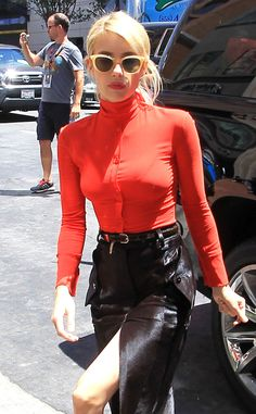 Fierce! The reality star gives paparazzi a major eye contact outside of a studio in Hollywood.