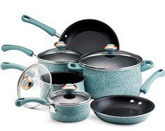 """Robin's Egg Blue"" Paula Dean pots & pans set I want ever so badly!"