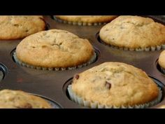 Banana and Chocolate Chip Muffin Recipe - by Laura Vitale - Laura in the Kitchen Ep 131 - YouTube