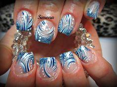 glitter acrylic by simonaleucht - Nail Art Gallery nailartgallery.nailsmag.com by Nails Magazine www.nailsmag.com #nailart