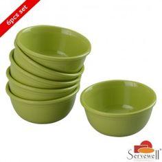 Servewell 6 Pc Urmi Katori Set - Green