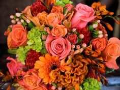 Fall wedding flowers...