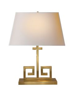 Kate Table Lamp, Natural Brass – High Street Market