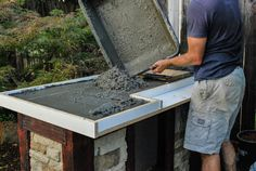 Outdoor kitchens can be a great addition to your home.Outdoor kitchens can be a great addition to your home.Best DIY outdoor kitchen ideas and designs wonderful outdoor kitchen design ideas in the backyard - Outdoor Kitchen Plans, Outdoor Kitchen Countertops, Backyard Kitchen, Outdoor Kitchen Design, Outdoor Cooking, Building An Outdoor Kitchen, Rustic Outdoor Kitchens, Soapstone Countertops, Outdoor Grill Station