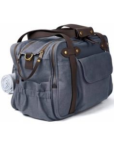 charlie unisex diaper bag in slate // soyoung