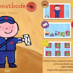 Digibordles-de-postbode Digibordles bij het prentenboek 'De postbode' van Liesbet Slegers. Spel 1: Woordenschat. Weet jij wat een postbode allemaal nodig heeft? Spel 2: Hoeveel brieven vallen er in de postzak? Spel 3: Logische volgorde. Wat gebeurt er allemaal met een brief voordat hij bij je thuis is? Spel 4: Help de postbode de brieven te sorteren.  Spel 5. Help de postbode de brief in de juiste brievenbus te doen.  Spel 6. Daar gaat de postbode. Heb jij gezien waar hij meer pakketjes…