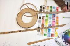 97 Meter Veneer by mischer'traxler Wooden Basket, Unique Colors, Gradient Color, Objects, Tableware, Design, Dinnerware, Tablewares