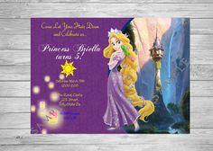 Rapunzel Invitation Tangled Invitation Tangled by TwoAngelsDesigns