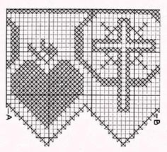 vintage cross stitch chart - also great for filet crochet and beading