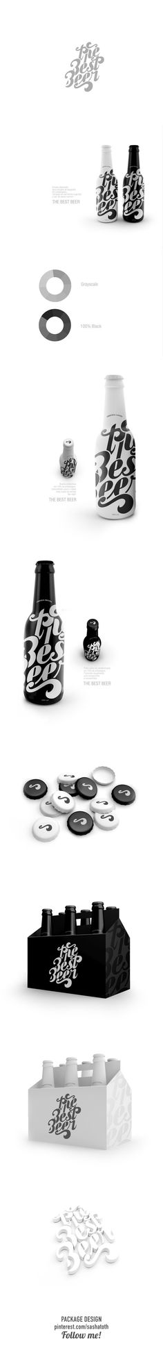The Best Beer Lettering and Packaging (concept) by Renan Vizzotto, via Behance