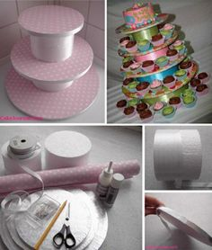 Weddbook ♥ How to make a cupcake stand DIY cute cupcake stand. #diy #stand #craft | Weddbook ♥ Kendi 					 http://athome.kimvallee.com/2009/08/how-to-make...
