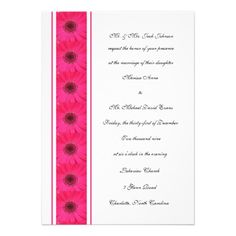 This DealsPink Gerbera Daisy Wedding Invitation Custom Invitationsso please read the important details before your purchasing anyway here is the best buy