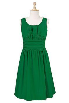 banded waist poplin dress
