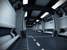 sci fi hallway | Sebastian Schröder