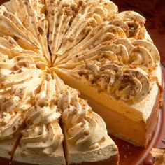 No Bake Pumpkin Cheesecake With Pumpkin Creamcheese Frosting Recipe from Grandmother's Kitchen (frosting design)
