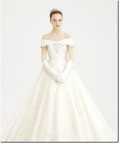 princess-like classic victorian wedding dress