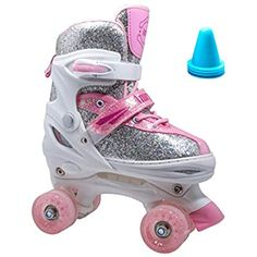 Amazon.com : Roller Derby 1378-02 Youth Boys Firestar Roller Skate, Size 2, Black/Gray : Sports & Outdoors Best Roller Skates, Outdoor Roller Skates, Roller Skate Shoes, Quad Skates, Roller Derby, Roller Skating, Indoor Playground, Pink White, Toddler Girl