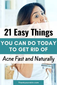 Acne can occur for a variety of reasons. It could be caused by your eating habits, genetics, or the items you use. We've created a list of the 21 most effective methods for permanently removing acne.